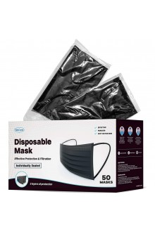 Full Black colour 3ply Face mask Non Medical Disposable Mask full Black Face Mask