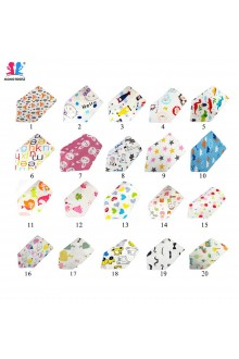Baby Bibs Toddler Cotton Triangle Bib With Button (20 Design)