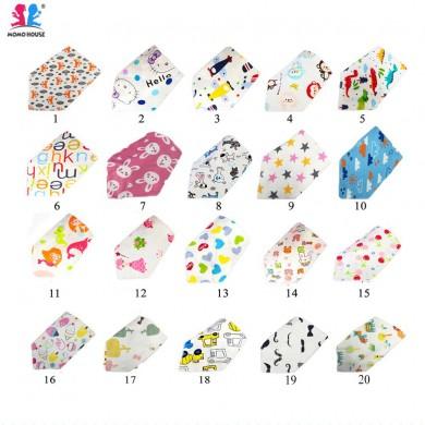 Baby Bibs Toddler Cotton Triangle Bib With Button (20 Design)
