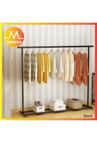 MIZONA Indoor Drying Clothes Rod Simple Clothes Hanger Hanging Clothes Hanger Floor Bedroom Single Pole Style Clothes Rack