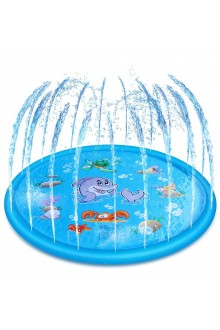 WISTIC 100/150/170cm Inflatable Outdoor Sprinkle Pad Summer Water Spray Carpet Toy