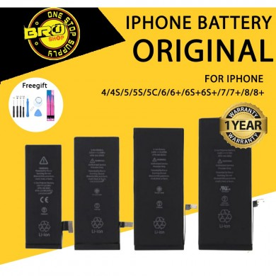 [Free Tools/Gift] iPhone 100% Original Battery for 4 4S 5 5S 5C 6 6S 7 8 Plus X Se Xr Xs Max 6plus 6splus 7plus 8plus