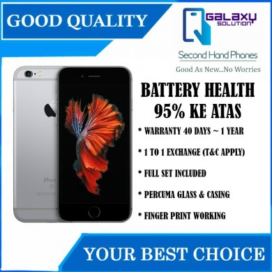 iPhone 6s 128gb / 64gb / 16gb Original Second-Hand 95% Macam Baru 95% Batterhy Health