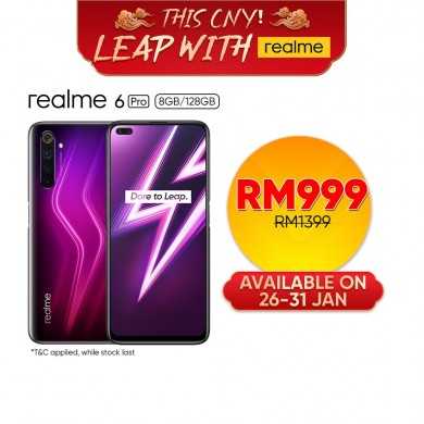realme 6 Pro Smartphone | 8GB + 128GB | 6 Cameras with 64MP | 90Hz Smooth Display | 30W Flash Charge | 1 year warranty