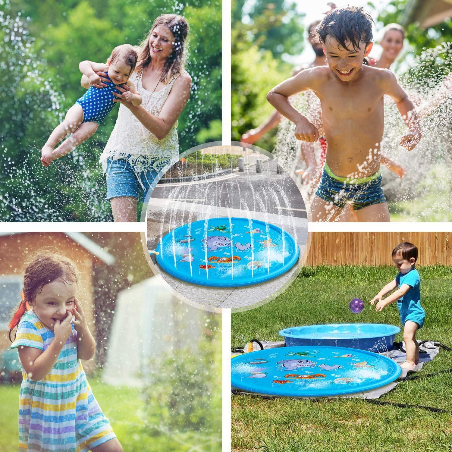 WISTIC-100150170cm-Inflatable-Outdoor-Sprinkle-Pad-Summer-Water-Spray-Carpet-Toy